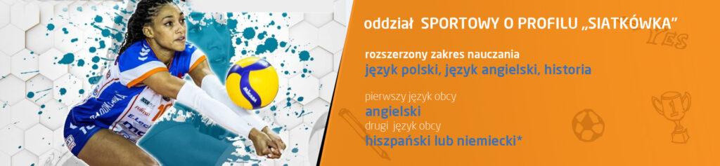 """oddział Sportowy o profilu """"Siatkówka"""""""